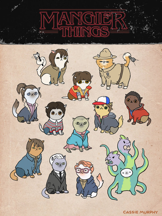 Stranger Things Cat Poster
