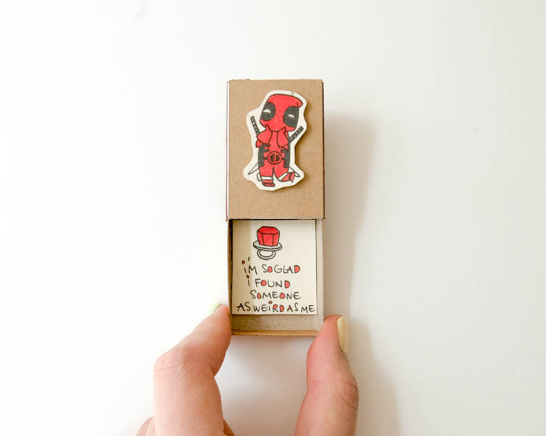 Deadpool Engagement Ring Box